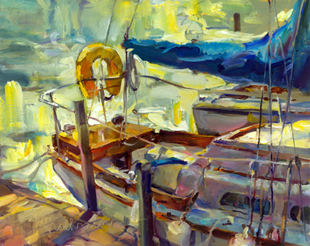 Backlit, Painting by Tom Nachreiner