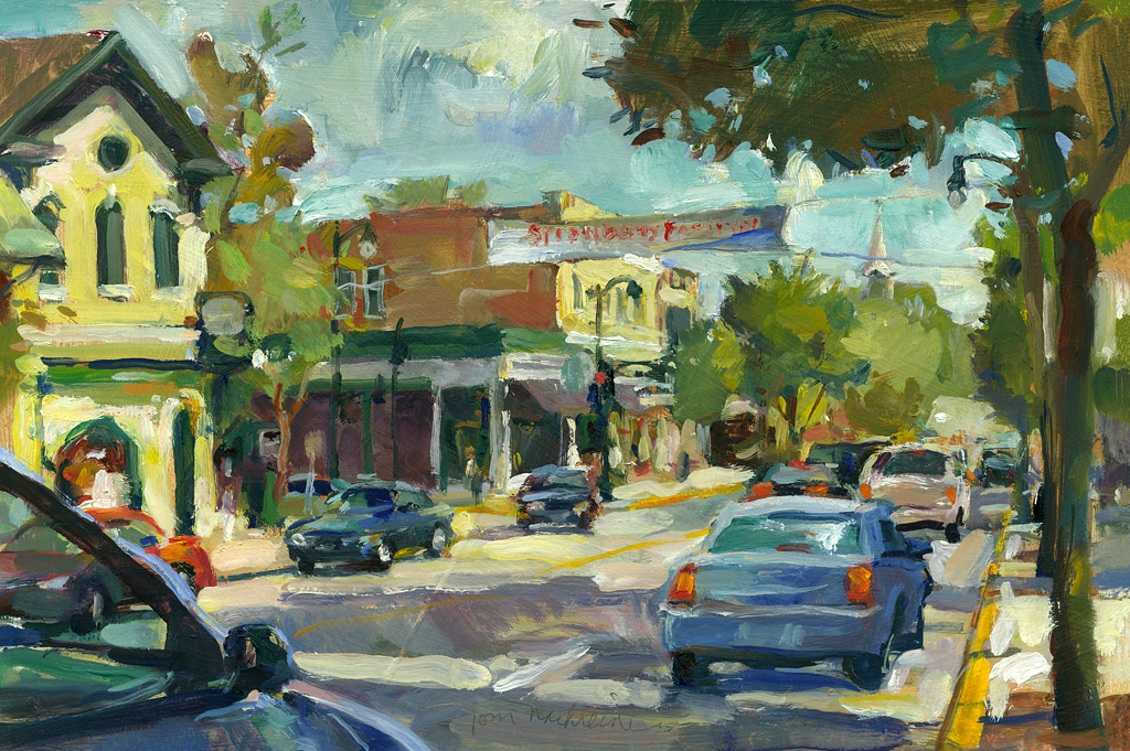 Cedarburg June Afternoon, Painting by Tom Nachreiner