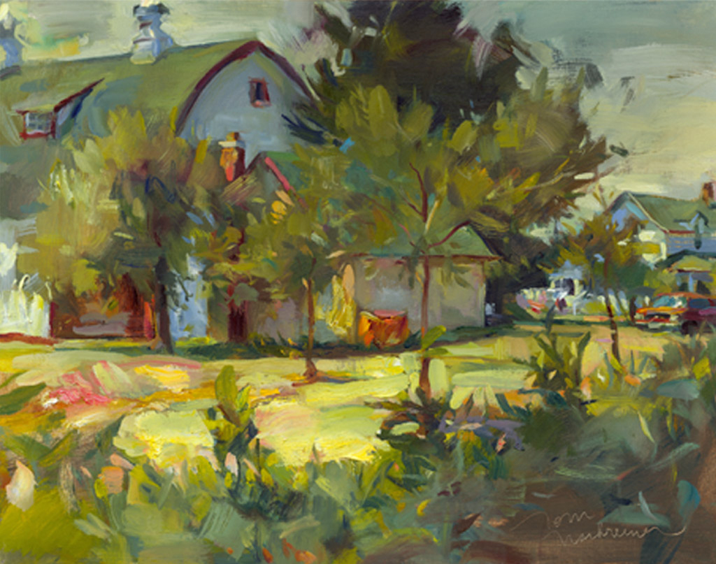 Cherry Orchard Farm, Painting by Tom Nachreiner