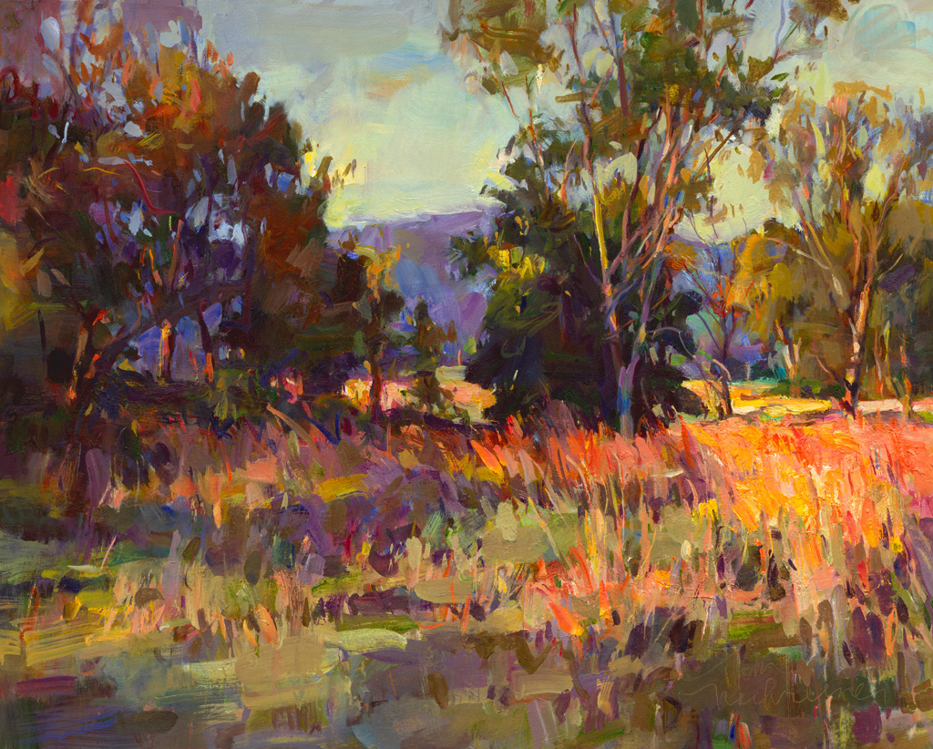 Colorful Fields, Painting by Tom Nachreiner