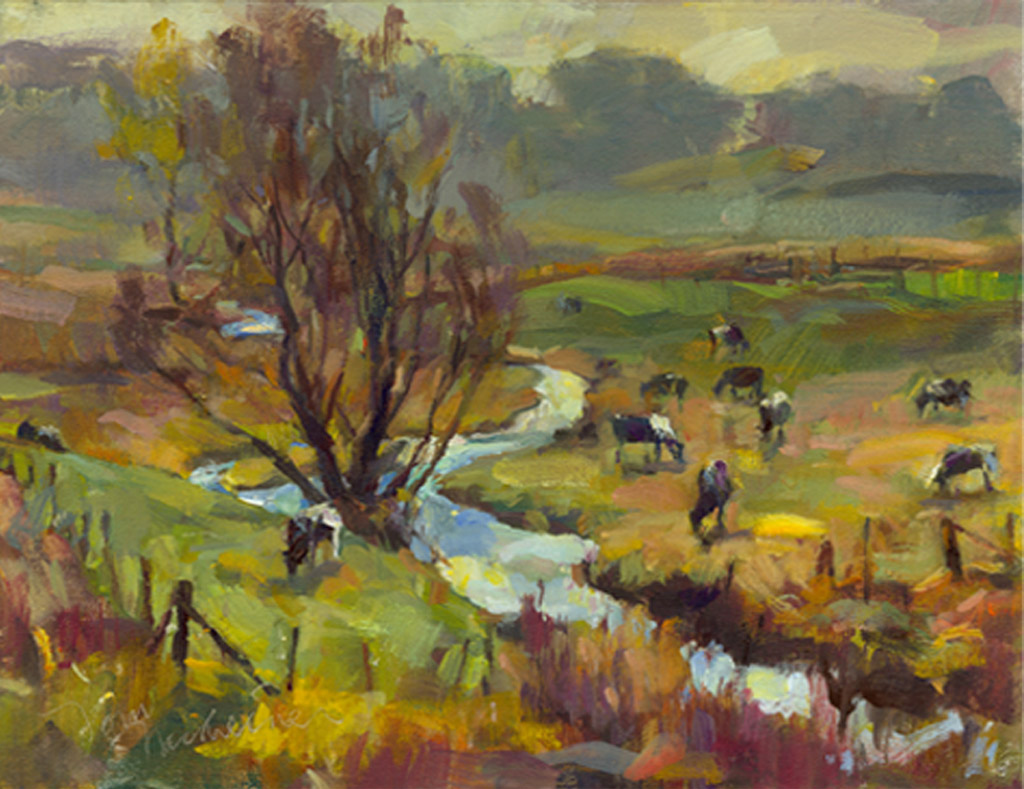 Country Morning Fog, Painting by Tom Nachreiner