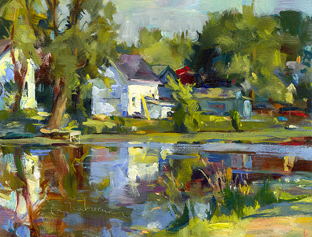 Early Morning Reflections , Painting by Tom Nachreiner