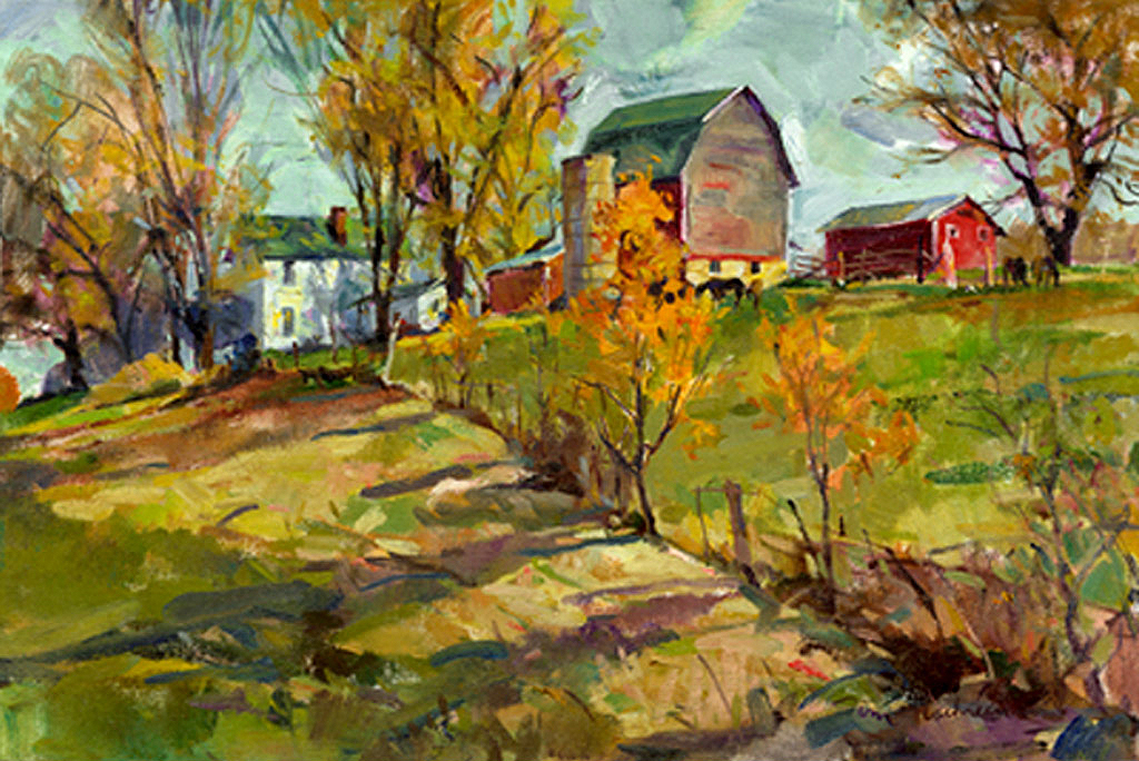 Farm Near Patch Grove, Painting by Tom Nachreiner