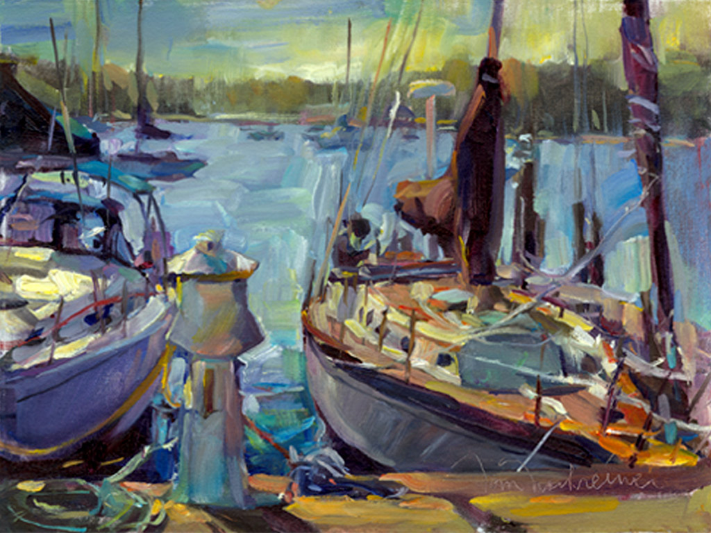 Fish Creek Harbor , Painting by Tom Nachreiner