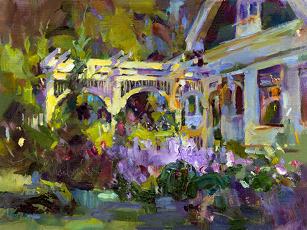 Her Special Garden, Painting by Tom Nachreiner