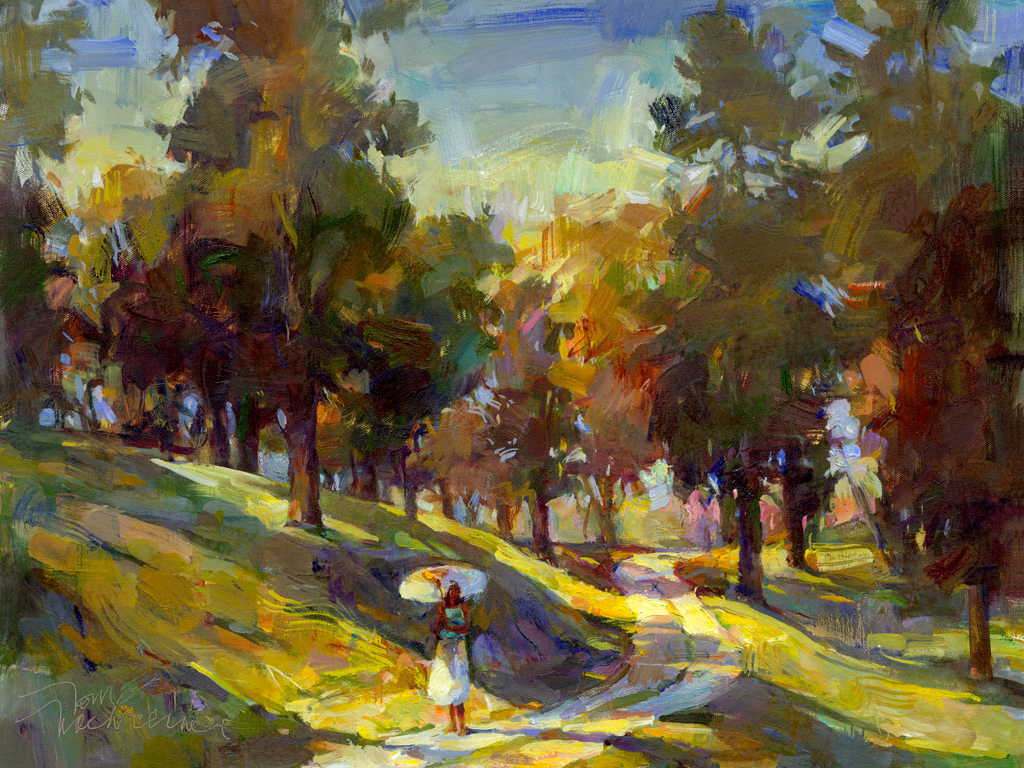 Late Afternoon Stroll, Painting by Tom Nachreiner