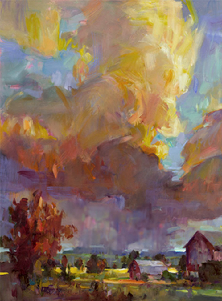 Late Summer Storm, Painting by Tom Nachreiner