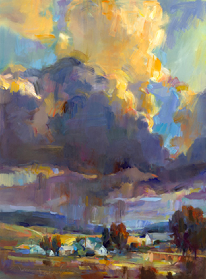 Majestic Thunderhead, Painting by Tom Nachreiner