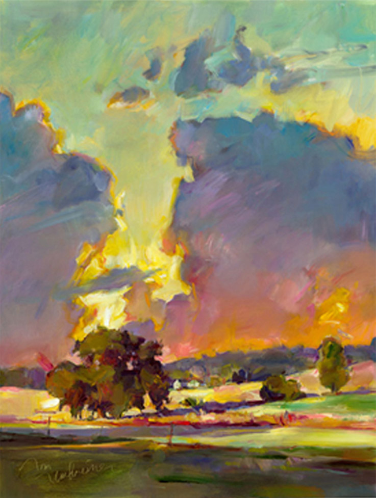 Mirrored Clouds, Painting by Tom Nachreiner