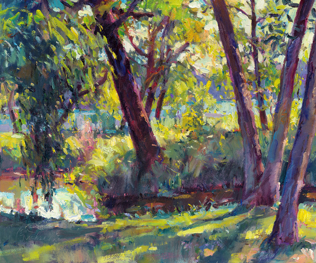 Nekoosa Park Trees, Painting by Tom Nachreiner