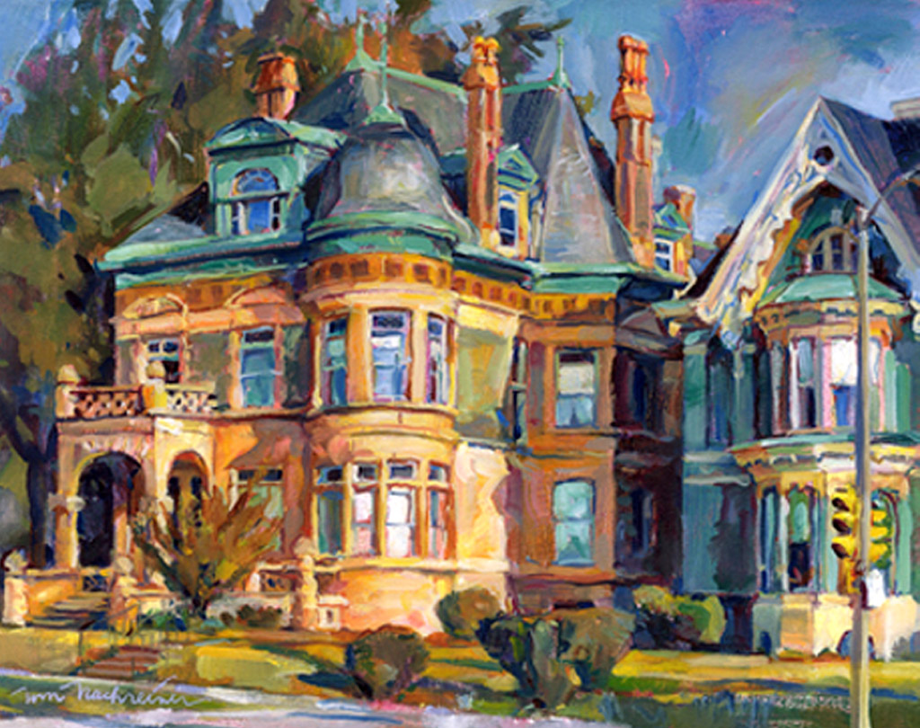 Prospect Mansions, Painting by Tom Nachreiner