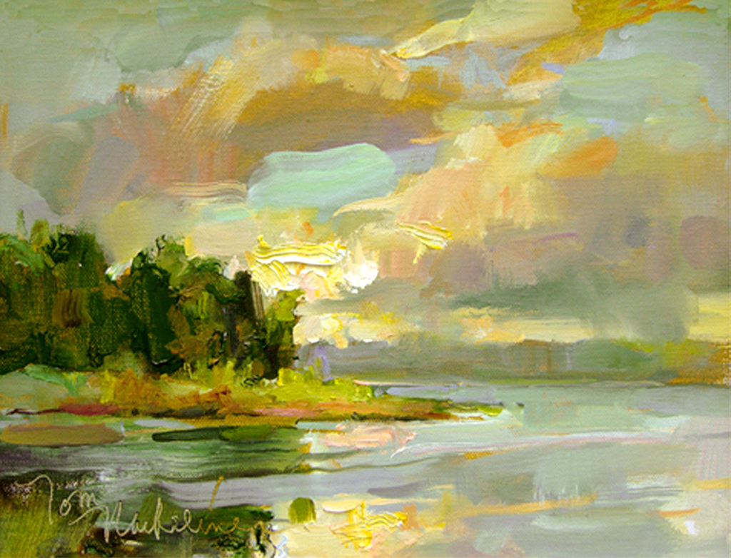 Rawley's Bay Sunrise, Painting by Tom Nachreiner