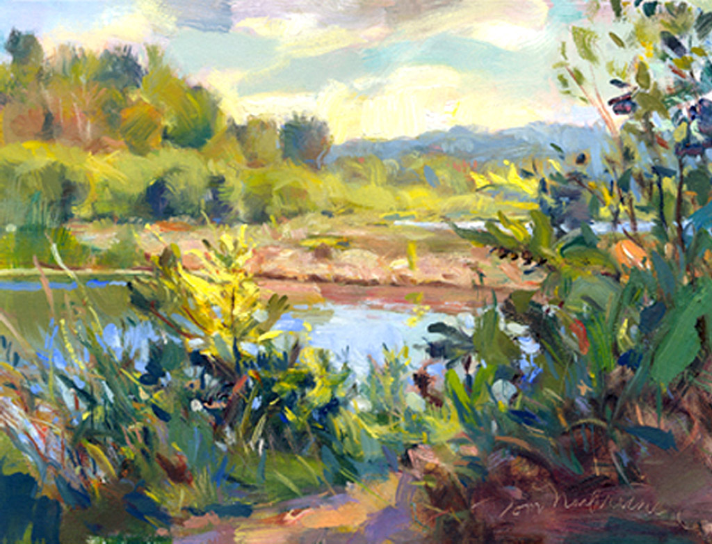 River Inlet, Painting by Tom Nachreiner