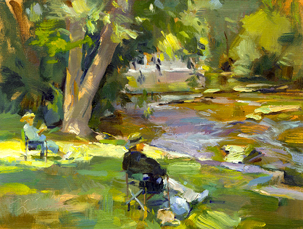 Sitting By The River, Painting by Tom Nachreiner
