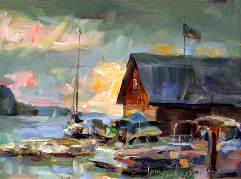 Storm Coming, Painting by Tom Nachreiner