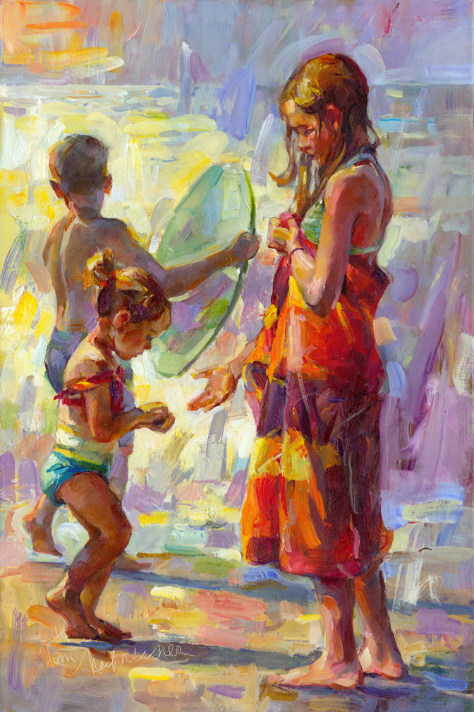Sun Fun & Sand, Painting by Tom Nachreiner