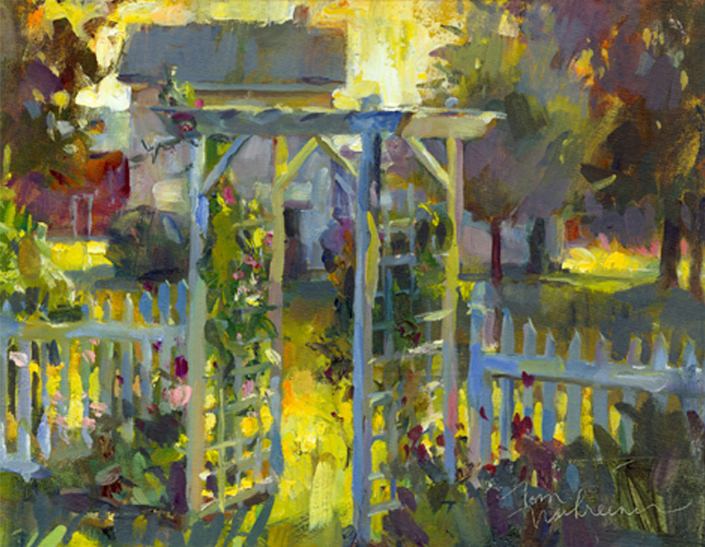Sunlit Country Arbor, Painting by Tom Nachreiner