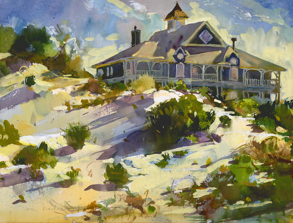 Sunny Dunes, Painting by Tom Nachreiner
