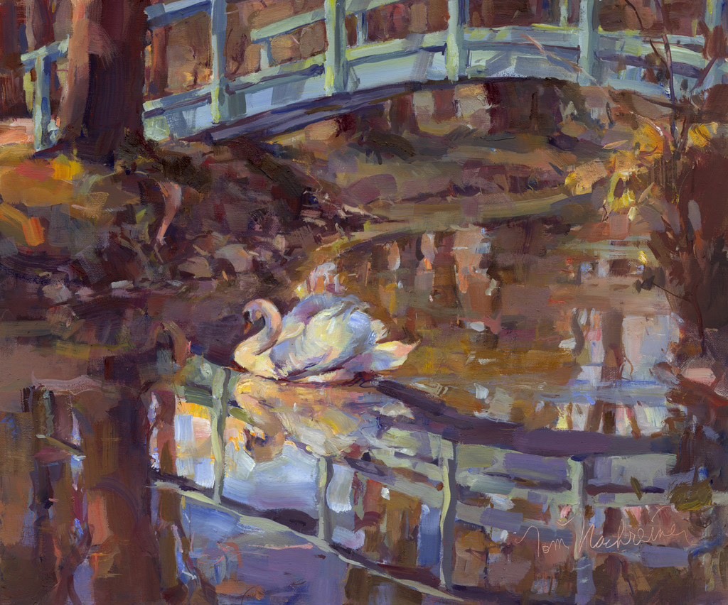 Swan & Reflections, Painting by Tom Nachreiner