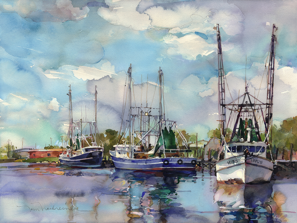 Texas Shrimp Boats Web