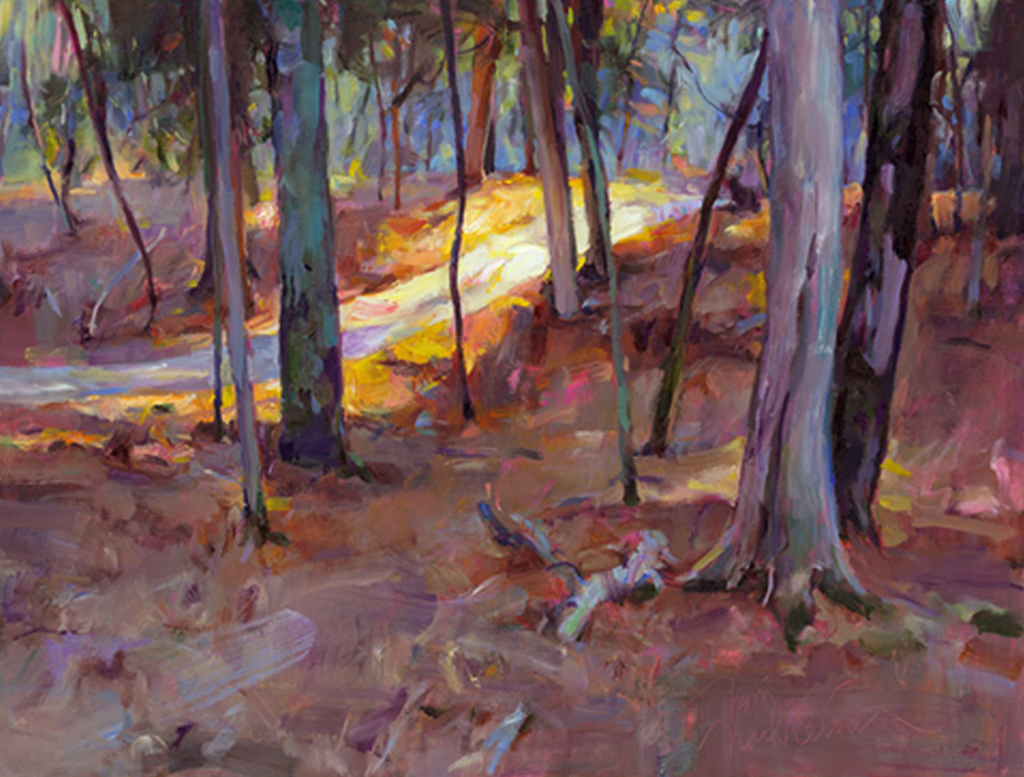 Trail Of Light, Painting by Tom Nachreiner