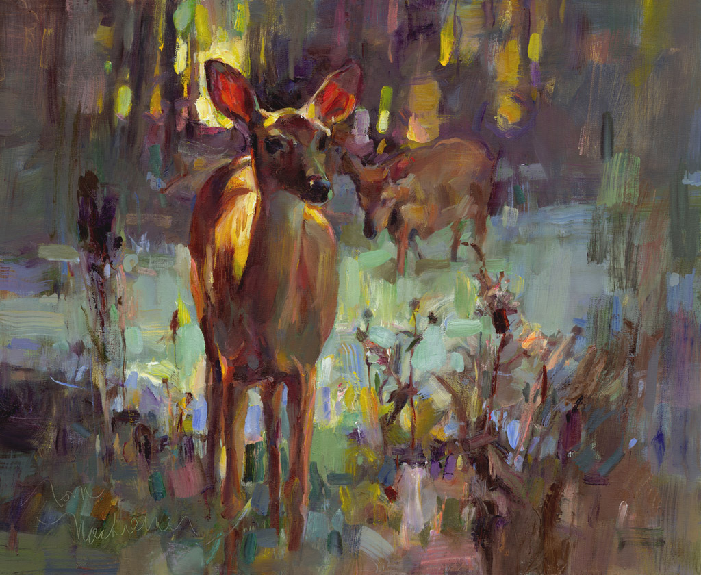 Young Doe, Painting by Tom Nachreiner