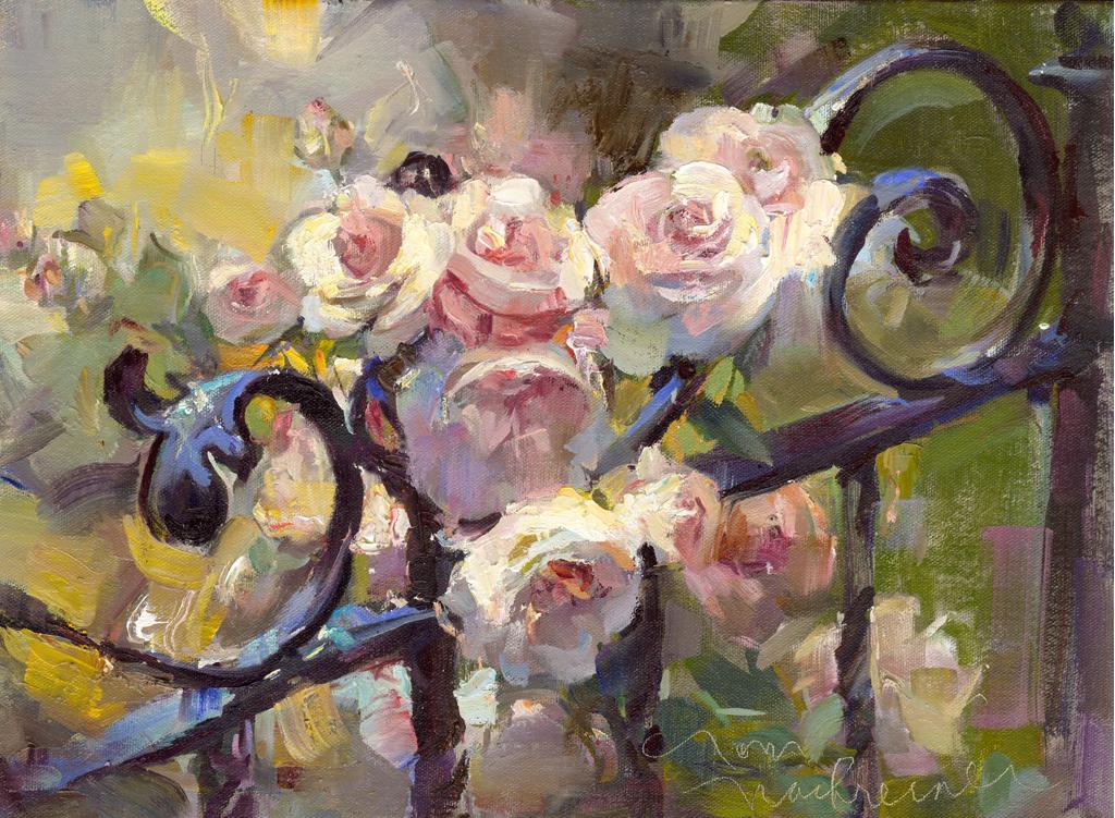 Iron Fence Roses