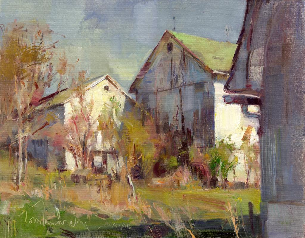 Three White Barns