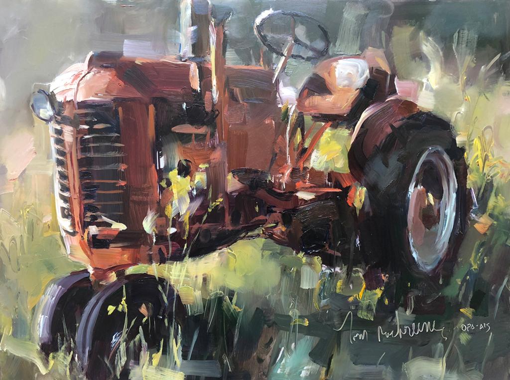 Backlit Tractor