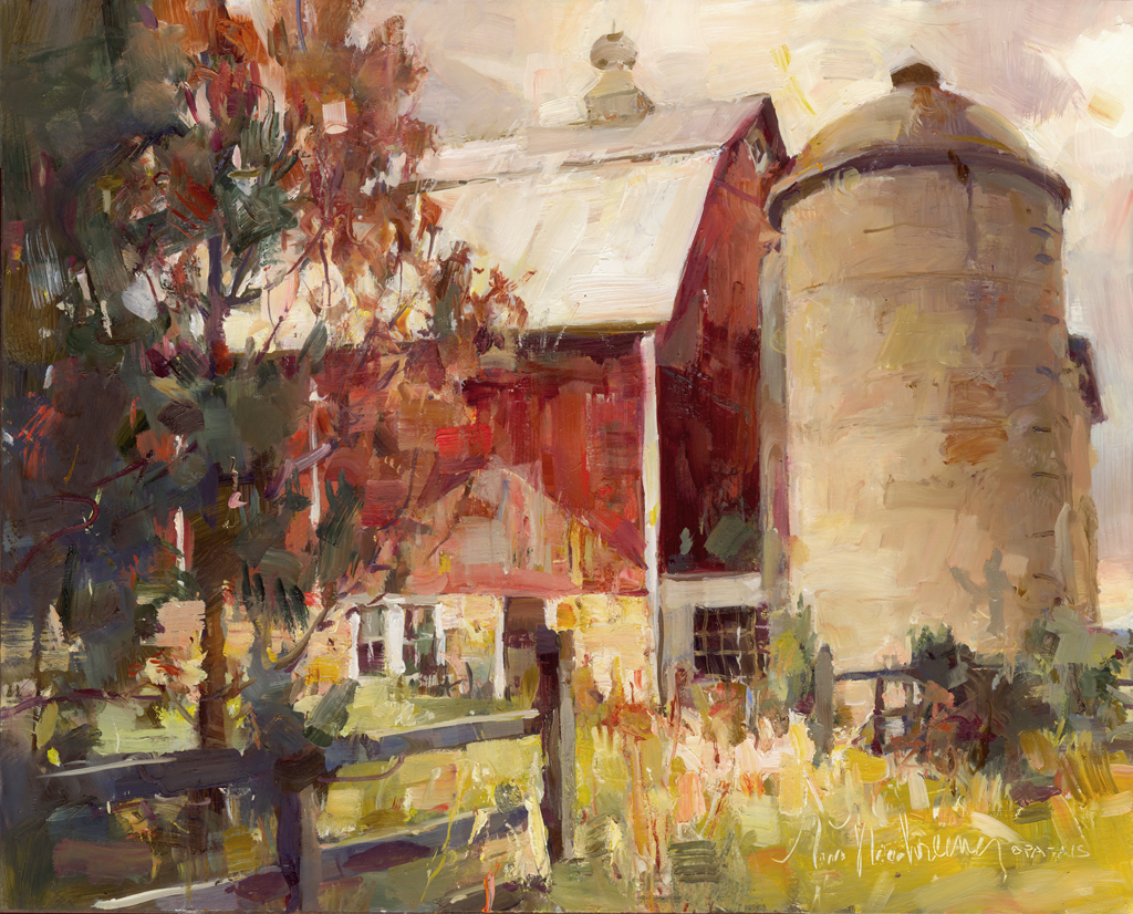 Pines & Red Barn
