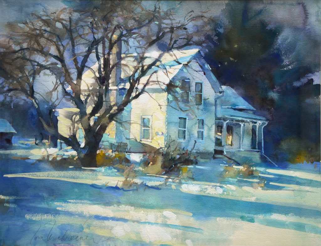 Evening Snow Shadows